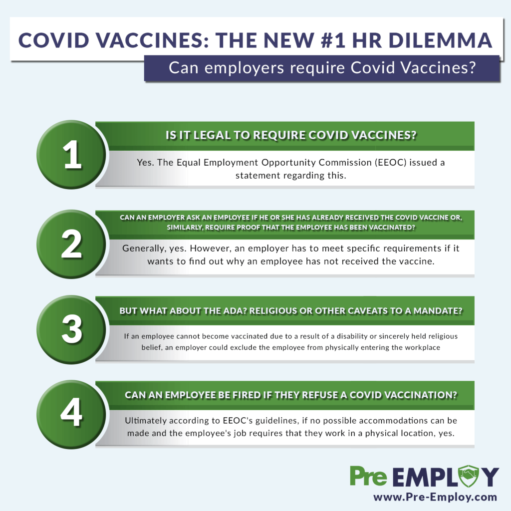Can an employer require a COVID-19 vaccine